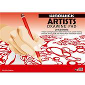 A2 Warwick Artists Drawing Pad, 110gsm, 20 Sheets