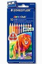 Noris Club Learners Triangular Triplus Jumbo, Colour Pencils, Pack of 10