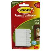 3M Command Adhesive Picture Hanging Strips, Small 17202 White