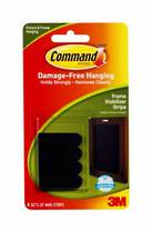 3M Command Adhesive Frame Stabilizer Strips 17208 Black