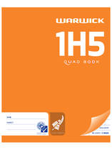 1H5 Maths Quad Exercise Book 10mm, 72 Pages