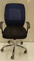 Mesh Office Chairs, Midback with Arms, Chrome Base, Purple