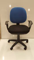 Secretary Chairs, Midback with Arms, Blue