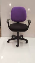Secretary Chairs, Midback with Arms, Purple