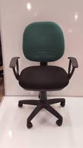 Secretary Chairs, Midback with Arms, Green