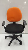 Secretary Chairs, Midback with Arms, Orange