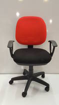 Secretary Chairs, Midback with Arms, Red