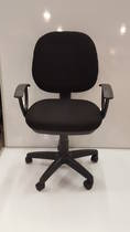 Secretary Chairs, Midback with Arms, Black