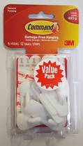 3M Command Adhesive Small Hooks 17002-6