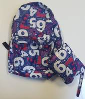 Back Pack with own Pouch Numbers Game