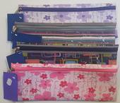 Large 30cm Pencil Bag Purple Floral