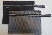 A4 Satchels with Double pocket and handle Black