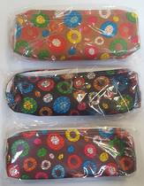 Best Buy Pencil bag Coloured circles on Dark Brown