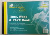A4 Time, wage and PAYE book with Kiwisaver
