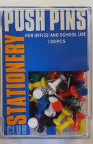 Push Pins,Standard Colours, Assorted Box of 100 Pins