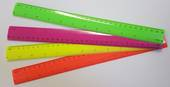 Neon Coloured Plastic Rulers, Pink