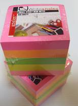 Writeangles Mini Cube 5 Neon Colours in one pad , 400sheets