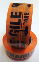 Fragile, Polyprop Tape,Black on Fluoro Orange, 48x100m