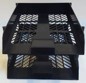 BSC Letter Tray, Set2 with Risers , Black