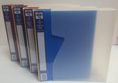 A4  Display Books, 80 Pages with Clear Dust cover, Red