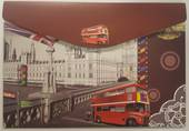 Designer Document Wallets, A4, Cardboard, London Bus