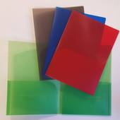 PVC Presentation Folders, Double Pocket,Blue
