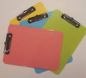 A4 Plastic Clipboards, Pastel Colours, Pink