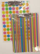 Plastic Clipboards, Funky Designs , A4, Bright Stripes