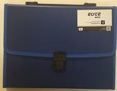 Elite Executive A4 Expanding Files With Clip And Handle, 13 Pockets, Blue
