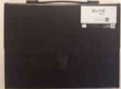 Elite Executive A4 Expanding Files With Clip And Handle, 13 Pockets, Black