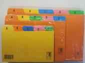 System Index Cards, Multi Coloured, A to Z , 8