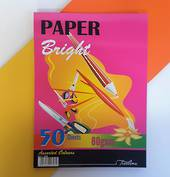 A4 Pad with 80gsm paper, Brights , 50sheets