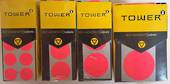 Tower Permanent Labels ,19mm, Fluoro Pink ,250 Dots