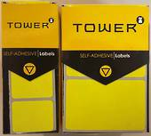 Tower Permanent Labels , R1925, Yellow, 200Labels