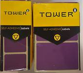 Tower Permanent Labels , R3250,Purple , 50Labels