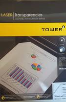 Tower Laser Transparency Film, Black and White , A4 , 100sheets