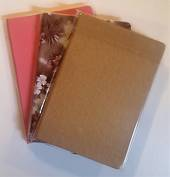 A5  Journals, ruled , yellow paper, Floral Gold and Pink Cover