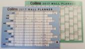 2019 Collins Wall Planners, Laminated, 700x990mm