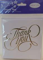 Thank you Notecards, pack 8 with envelopes