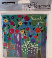 Thank you Notecards, pack 5 with envelopes