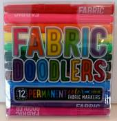 Fabric Doodlers, 12 permanent colour markers