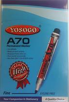 Permanent Markers, Bullet Point, Pack of 12, Yosogo A70, Black