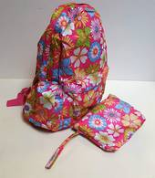 Back pack with own pouch Flower Power