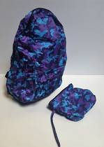 Back Pack with own pouch Purple Explosion