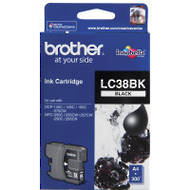 Brother LC38BK Inkjet Cartridges, Black