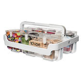 Stackable Caddy Organiser, frame with 3containers,  365 x 160 x 165