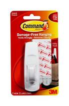 3M Command Adhesive Large Hooks, 17003