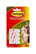 3M Command Adhesive Poster Strips, 17024