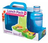 Sistema Lunch Cube and Trio Pack, Blue
