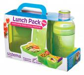 Sistema Lunch Cube and Trio Pack, Green
